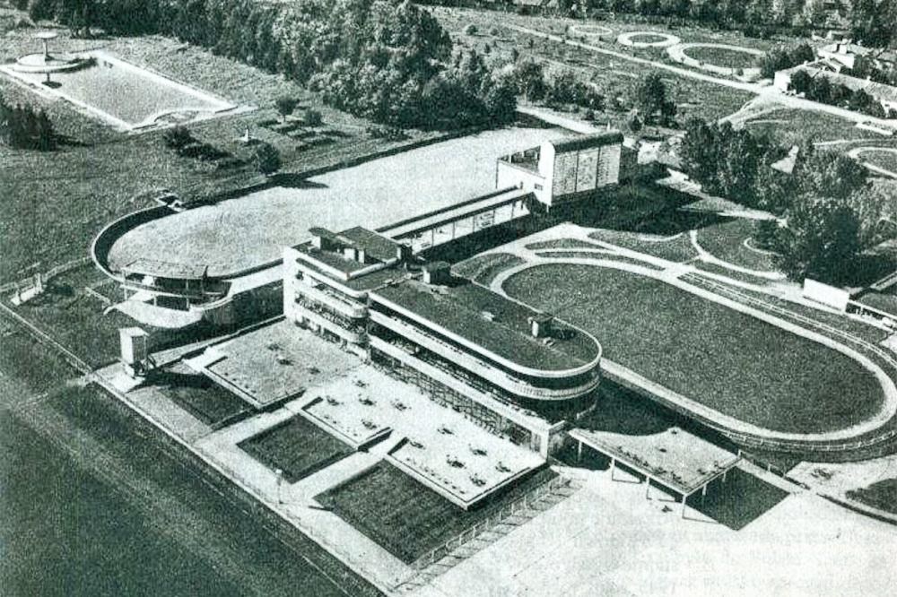 Tor Sluzewiec Bird's Eye View Circa 1939