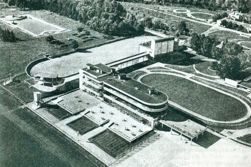 Tor Sluzewiec Bird's Eye View Circa 1939